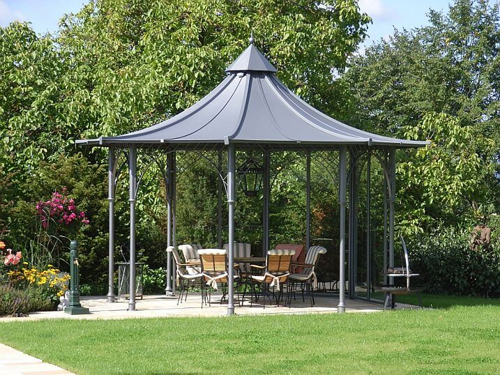 gartenpavillon mit festem dach gartenpavillon metall mit. Black Bedroom Furniture Sets. Home Design Ideas